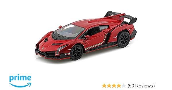 Amazon Com Lamborghini Veneno 1 36 Red By Collectable Diecast Toys