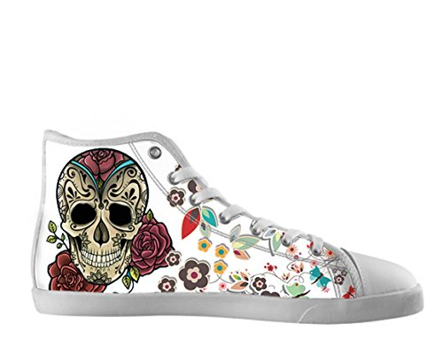 Scarpe Alte Da Donna In Tela Giorno Delle Scarpe Dead Skull Skull17