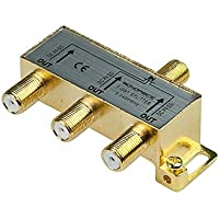 Monoprice 110014 PREMIUM 3-Way Coax Cable Splitter F-Type Screw for Video VCR Cable TV Antenna (110014)