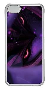 iPhone 5C Case 3D Purple Pattern PC iPhone 5C Case Cover Transparent