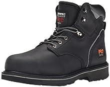 "Timberland PRO Men's Pitboss 6"" Steel-Toe Boot, Black , 13 D - Medium"