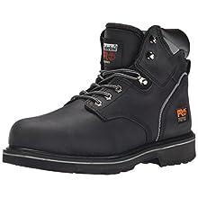 "Timberland PRO Men's Pitboss 6"" Steel-Toe Boot,Black,8.5 M"
