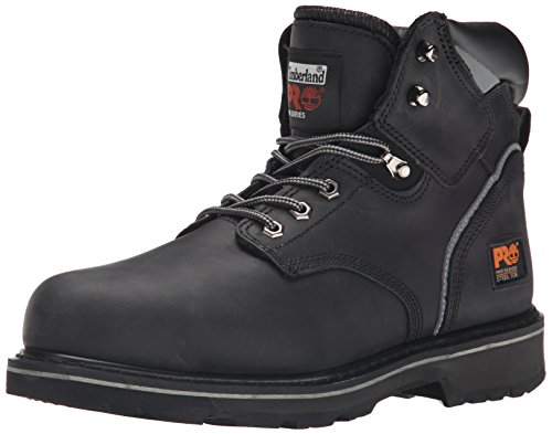 "Timberland PRO Men's Pitboss 6"" Steel-Toe Boot, Black , 9.5 EE - Wide"