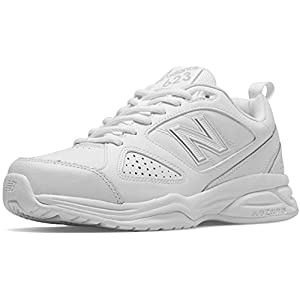 New Balance Women's WX623v3 Casual Comfort Training Shoe, White/Silver, 9 D US