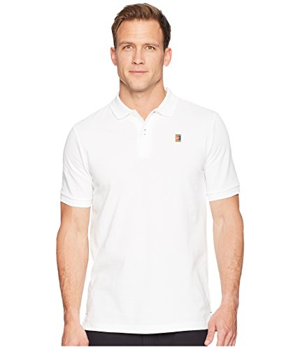 - Nike Court Men's Heritage Tennis Polo Shirt White (Large, White)