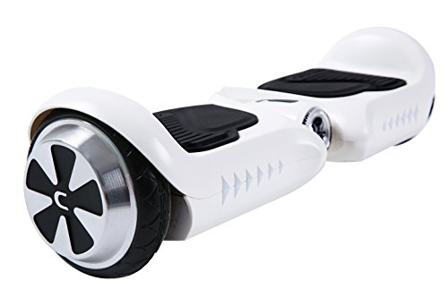 UL2272 Certified Self Balancing Scooter, CHIC Smart-K2 4.5″ Electric Hover Two Wheel Mini board with LED Light for Kids, Best Gift for Christmas Holiday Birthday (White)