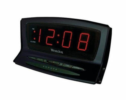 Westclox 70028 1.8-Inch Red LED Plasma Alarm Clock