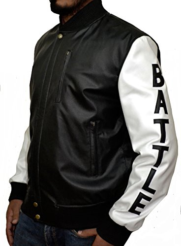 KOBE Destroyer XXIV Battle Micheal B Jordan Synthetic (Faux) Leather Jacket Black and White,XS by The Jasperz