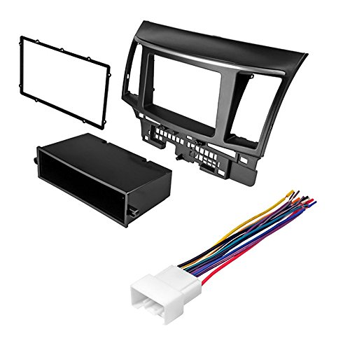 Mitsubishi Lancer 2007 2008-2013 CAR Stereo Radio CD Player Receiver Install MOUNTING KIT Wire Harness