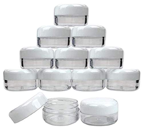 10ML  White Empty Plastic Cosmetic Jars Face Creams Bottle S