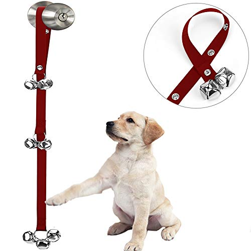 Upgraded Potty Bells for Puppies-Hanging Bells for Door Knob-Dog Bells for Potty Training-Bells for Dogs to Ring to Go Outside-Jingle Bells Doorbells for Puppy Dogs Doggy Doggie Poochie Pooch Pet -
