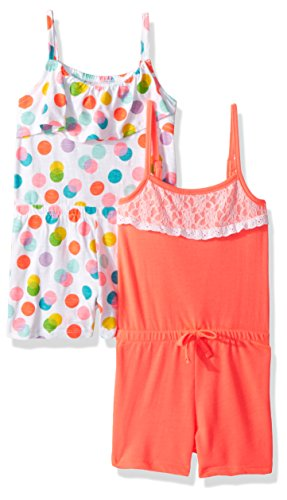 Limited Too Toddler Girls' Romper, Pack Printed Dots with Solid Multi Print, 4T by Limited Too