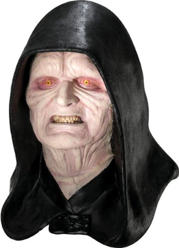 Rubie's Costume Men's Star Wars Deluxe Adult Latex Emperor Palpatine Mask, Multicolor, One (Emperor Palpatine Halloween Costume)