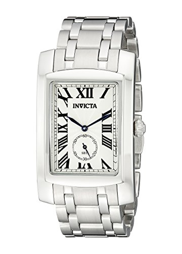 Amazon Lightning Deal 85% claimed: Invicta Men's 14697 Cuadro Analog Display Swiss Quartz Silver Watch