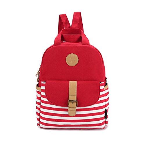 BULAGE Los Hombres Y Las Mujeres Backpack Bolso De Hombro De Los Pares Bolso Fácil Estilo De La Universidad Manera Lona muchachos Muchachas Simple Encantador Red