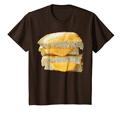Kids Grilled Cheese Sandwich Costume T-Shirt 12 Brown