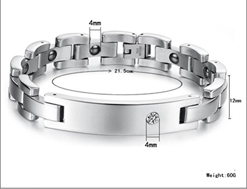 SunIfSnow Lovers Magnetic Radiation With Anti-Fatigue Couple of Titanium Steel Bracelet men