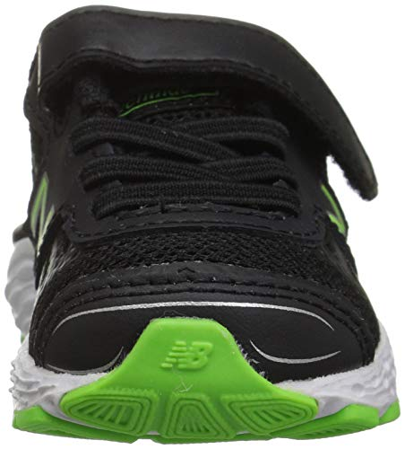 New Balance Boys' 680v5 Hook and Loop Running Shoe Black/RBG Green 2 XW US Infant by New Balance (Image #4)