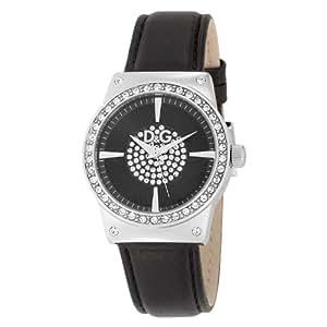 Dolce & Gabbana DW0527 - Reloj analógico de cuarzo para mujer con correa de piel, color negro