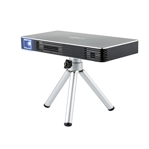 Homeerr Video Rechargeable Multimedia Home Pico Projector, Support 1080p Full Hd Wi-Fi Wireless Connectivity, Portable Mini Projector Max Throw Screen, Osram Led Lamps Work for 30000 Hour Free Tripod - Wall Projector For Phone