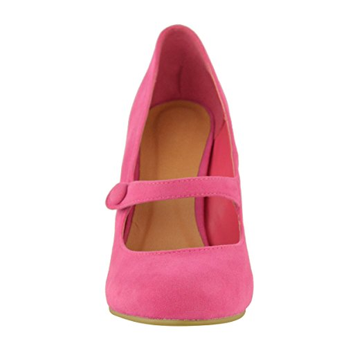 Low Suede Pumps Work High Womens Thirsty Shoes Sandals Mid Fashion Ankle Faux Pink Hot Court Size Heel Strap yS4EpSc
