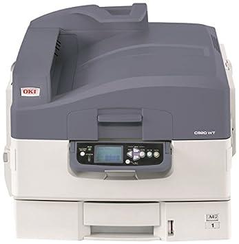 OKI C 920 WT - Impresora láser (Pantalla LCD, A3), Blanco y Gris ...