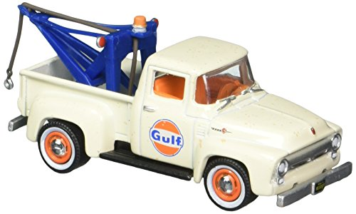 Greenlight 1: 64 Running On Empty Series 4 - 1956 Ford F-100 with Drop-in Tow Hook - Gulf Oil Diecast Vehicle from Greenlight