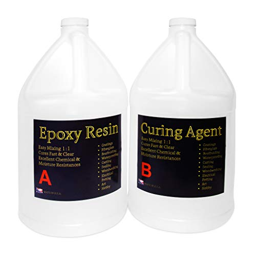 Clear Epoxy Resin for Table Tops, Bars, Fiberglass, Concrete - Professional Grade High Gloss Finish Multi-Purpose Resin - 2 Gallon Kit by Epoxy Resin (Image #1)