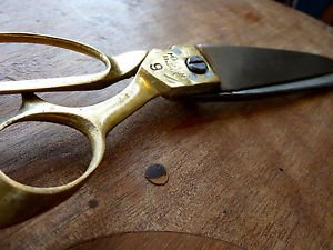 Junglevibes Heirloom Hand Forged Handmade Tailor Scissors Of Brass Handle And Steel Blades