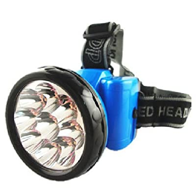Portable 9LED Rechargeable Outdoor Floodlight High Light Headlamp