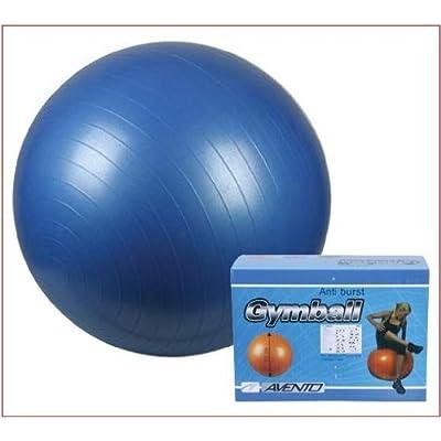 Ballon de gymnastique anti Burst avec pompe 75cm Bleu