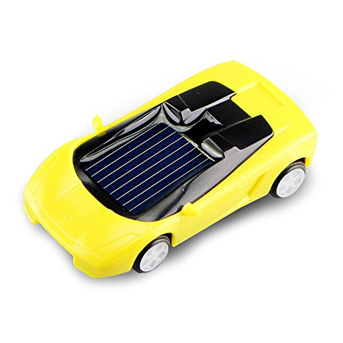 Qinmay Mini Plastic Solar Power Toy Car Kids Children Educational Gadget Trick Novelty Random Color 1 Pcs