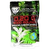 MetalTac Airsoft BBS Bio-Degradable .20g Perfect Grade High Precision 6mm BB Pellets (Bag of 5000 Rounds)