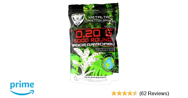 Amazon.com: MetalTac Airsoft BBs Bio-Degradable .20g Perfect ...