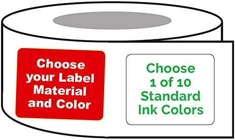 Printed Labels 10000 Made in The USA Custom Rectangle 1 x 1.25 Personalized Business Product Brand Sticker Rolls One Ink Color -