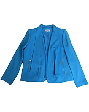 Calvin Klein Women's Zip Pockets Blazer