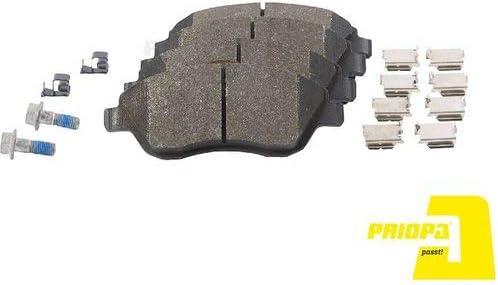 Priopa Bremskl/ötze Bremsbel/äge Bremsbelagsatz Vorderachse A898526