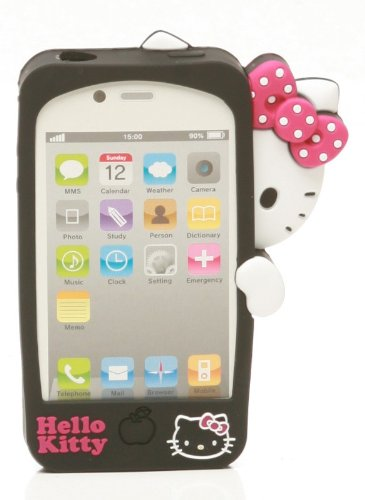 2910124d2 Image Unavailable. Image not available for. Color: Hello Kitty 3D Peek-A-Boo  iPhone 4S/4 Cell Phone Case
