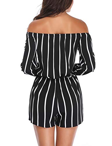 MISS MOLY Women Rompers and Jumpsuits Off The Shoulder Strapless Boat Neck Shorts with Belt by MISS MOLY (Image #5)
