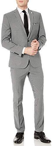 Nick Graham Men`s Slim Fit Stretch Finished Bottom Suit
