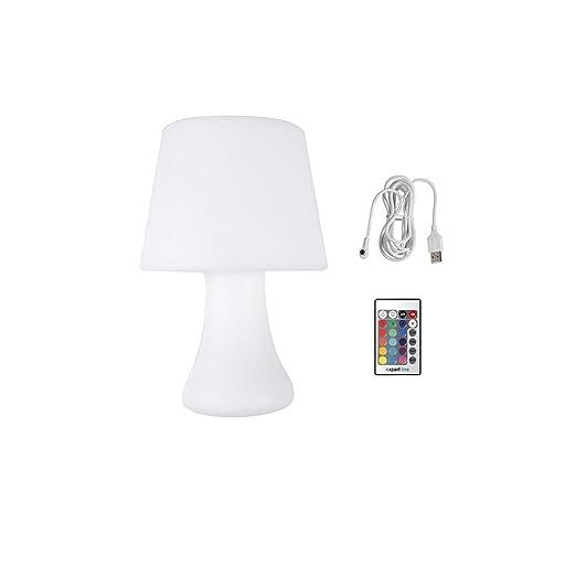 Cogex - 493396 - Lámpara de mesa a pilas con control remoto ...