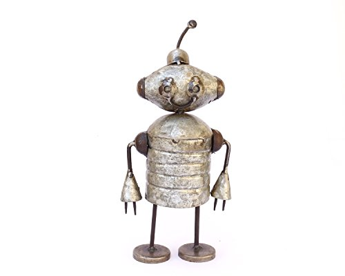 De Kulture Works Recycled Iron Figure Alien Showpiece 5X5X11 (LWH) (Multicolour)