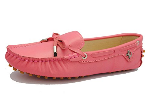 Minitoo Donna Ballerine Barca on Nabuk Mocassini Bambina Casual Da Red Cherry Slip Scarpe aSnaB5q