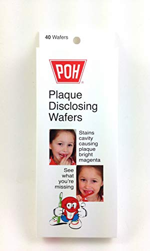 POH Plaque Disclosing Tablet Wafers For Kids - 40 Count, Cherry Flavor