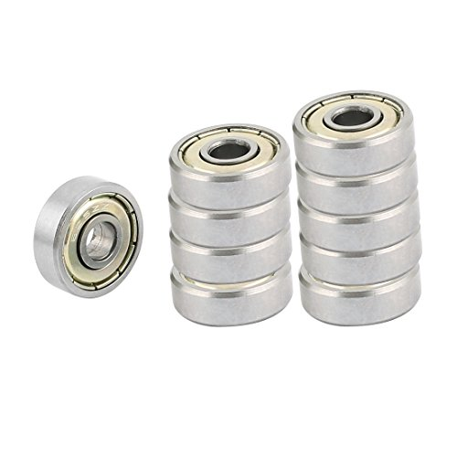 m Carbon Steel Groove Radial Ball Bearings Silver 10Pcs ()