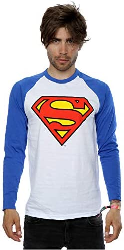 DC Comics hombre Superman Logo Camisa de manga larga de béisbol: Amazon.es: Ropa y accesorios