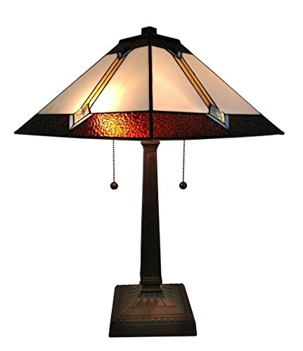 Amora Lighting AM223TL14 Tiffany Style Mission Table Lamp 21 In High