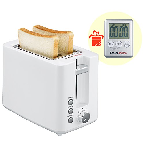 Bonsenkitchen 2-Slice Wide-Slot Toaster, Defrost, Bagel and Cancel Function Toaster, 7 Shade Selection Settings, White (TR8720) Review