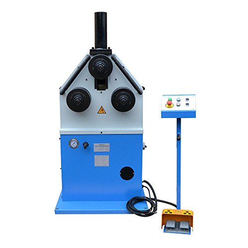 "3 HP Ring Band Roller Round Angle Bender Hydraulic Bending Machine Pipe Square Tube Round Flat Steel 9 RPM 2"" Roll Shaft Diameter from DBM IMPORTS"