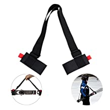 aaronam Portable Adjustable Skiing Ski Shoulder Carrier Sling Ski Shoulder Lash Outdoors Sports Snow Ice Handle Straps Porter Boot Strap Thick and Strong